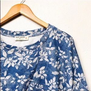 Floral Blue & White Crewneck Sweatshirt
